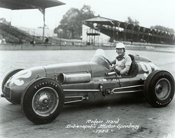 Rodger Ward in the #92 M. A. Walker Electric Special (Kurtis/Offy) at the Indianapolis Motor Speedway