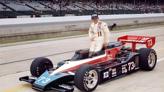 Jerry Sneva in the #73 National Engineering AMC Special (Spirit/AMC) after qualifying for the 1979 Indianapolis 500 at the Indianapolis Motor Speedway.