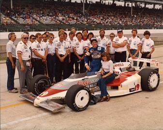 1983  Al Unser Jr. qualifying photo