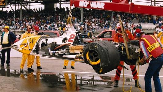 1996 Roberto Guerrero race accident