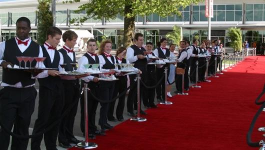The red carpet at the Indianapolis 500 Victory Celebration