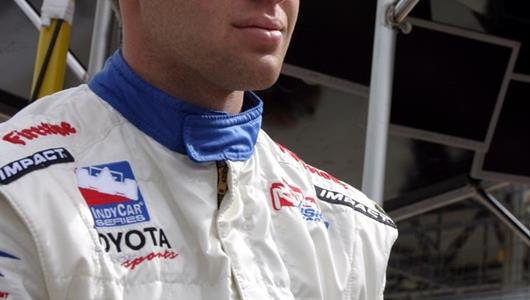 Ed Carpenter, driver of the #20 Vision Racing Dallara/Toyota during RubberQueen Qualifying for the MBNA Pole at the Indianapolis Motor Speedway.