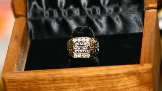 Tony Stewart's Allstate 400 at the Brickyard winner's ring