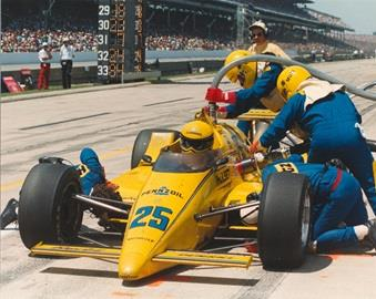 Quick work in the pits helped Al Unser deliver another Indianapolis 500 victory to Penske Racing in 1987.