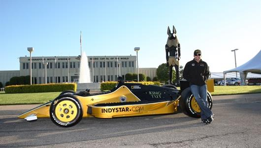 Alex Tagliani poses with the