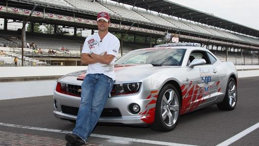 Josh Duhamel, the 2009 driver of the Official Pace Car.