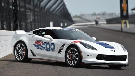 The Corvette Grand Sport that will pace the field of 33 for the 101st Running of the Indianapolis 500 presented by PennGrade Motor Oil