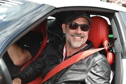 Jeffrey Dean Morgan prepares to drive the Chevrolet Pace Car for the start of the 101st Running of the Indianapolis 500