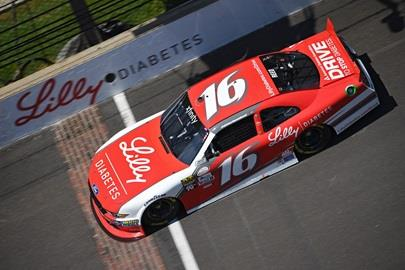 Ryan Reed on track for opening practice for the NASCAR XFINITY Series as drivers prepare for the Lilly Diabetes 250