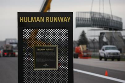 As the Bridge is removed, the Hulman Bridge transforms to the Hulman Runway