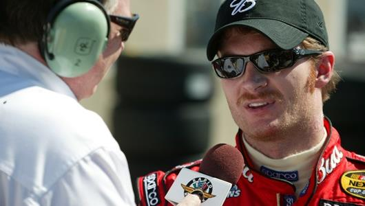Earnhardt Jr. being interviewed in 2004