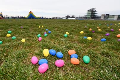 Easter Eggs waiting to be found at the eighth annual IMS Easter Egg Hunt