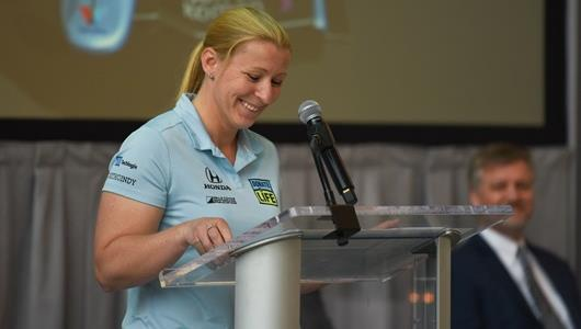 6-time Indianapolis 500 starter Pippa Mann announces her participation in the 102nd Running of the Indianapolis 500 presented by PennGrade Motor Oil
