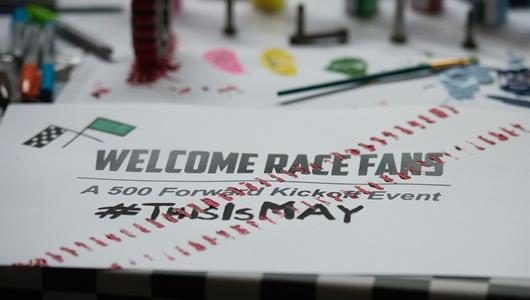 The Indianapolis Motor Speedway and it's partners kick off community initiatives with the annual Welcome Race Fans party in downtown Indianapolis