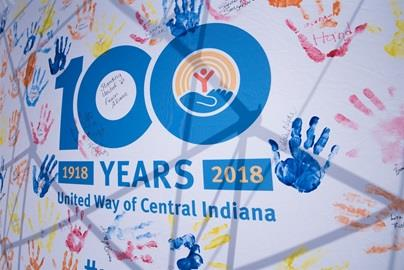 The United Way of Central Indiana gathered at the Indianapolis Motor Speedway to celebrate 100 years of helping central Indiana communities