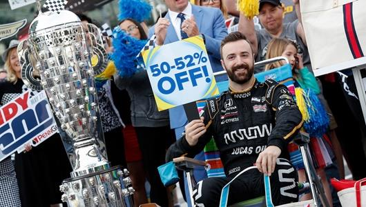 James Hinchcliffe, Fans and other guests joined Good Morning America at the Indianapolis Motor Speedway