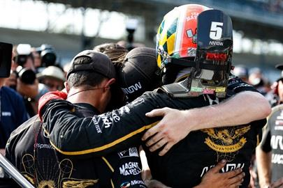 James Hinchcliffe and team share condolences after the No. 5 car is bumped from the Indianapolis 500 field of 33