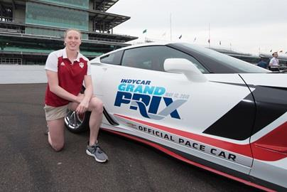Olympic gold medal-winning swimmer Lilly King, will drive the Chevrolet Corvette Grand Sport Pace Car for the INDYCAR Grand Prix