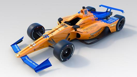 McLaren Racing's official livery for the #66 car that will compete in the 103rd running of the Indianapolis 500 presented by Gainbridge.