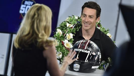 Simon Pagenaud in New York City during his victory tour after winning the 103rd Running of the Indianapolis 500 presented by Gainbridge.
