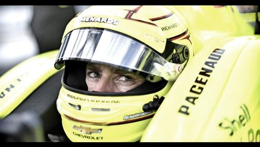 Simon Pagenaud during the second day of practice of the 103rd Running of the Indianapolis 500 presented by Gainbridge.