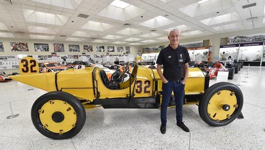 Ian Rush taking a look around the world famous IMS museum.