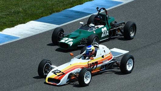 Vintage race cars take on the IMS road course at IMS
