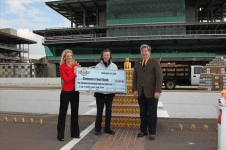 '1 Lap, 1 Great Cause' Laps IMS Oval With Food, Raises $5,484