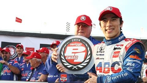 Verizon P1 Award Goes To Sato For Opening Race