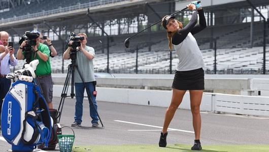 Lexi Thompson at the Indianapolis Motor Speedway