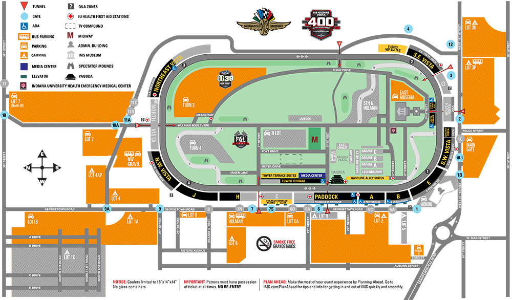 Brickyard 400 Parking
