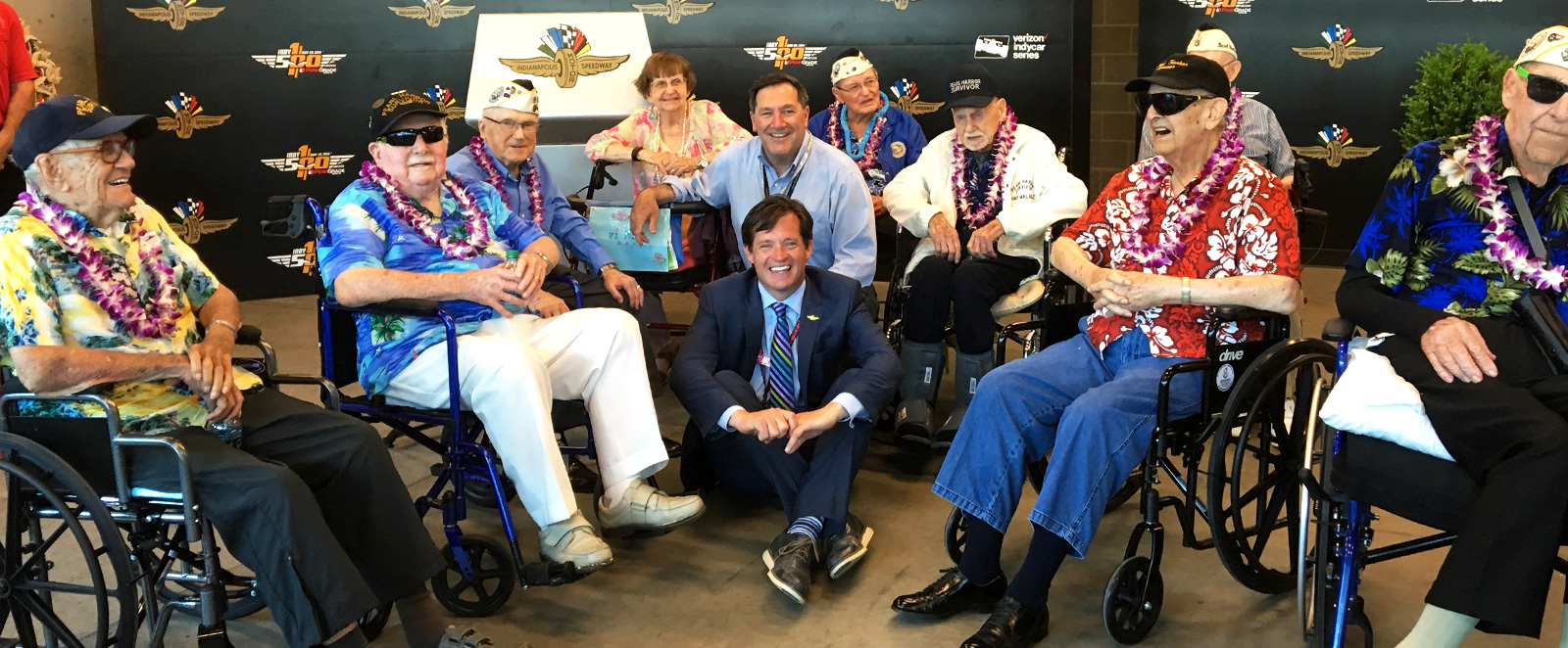 Doug Boles and Senator Donnelly with Pearl Harbor Survivors