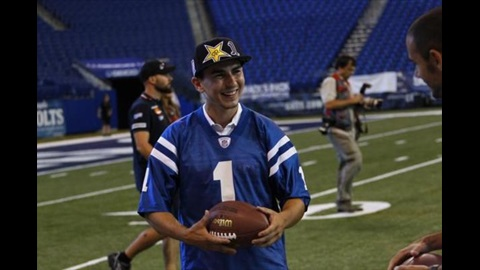 MotoGP Stars Join Former Colts Players For Football Fun