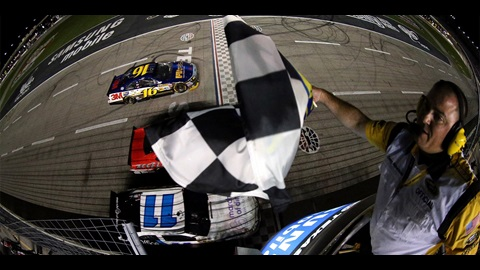 Biffle Makes Late Charge To Victory