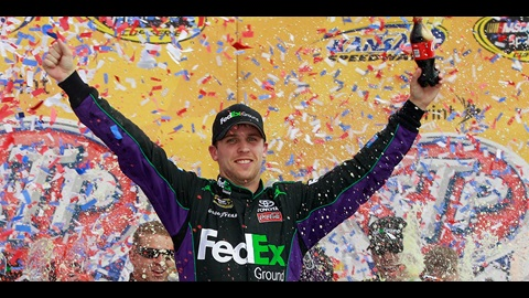 Denny Hamlin Holds Off Truex For Cup Win At Kansas