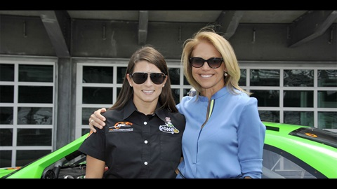 Danica Takes Couric For Fun Ride At IMS To Prepare For Indiana 250