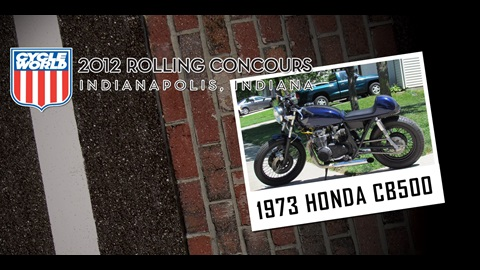 Cycle World Rolling Concours Entries: 1973 Honda CB500