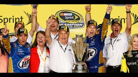 Penske Finally Reaches NASCAR Summit With Keselowski's Cup Title