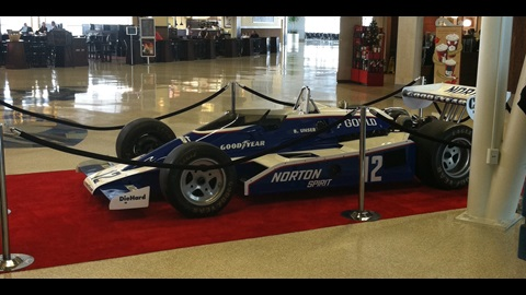 1970s Indianapolis 500 Cars on Display at Indianapolis Airport