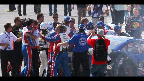 Tempers Boil Over Between Stewart, Logano After Hot Fontana Finish