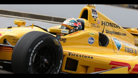 Hunter-Reay Tops 225 in Second '500' Practice
