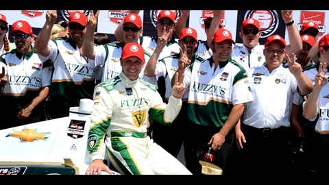 Carpenter Claims Back-To-Back Pole in Indianapolis 500