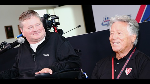 Sam Schmidt and Mario Andretti