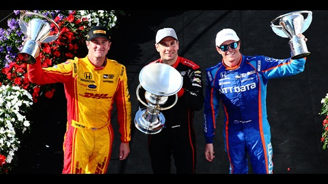 Ryan Hunter-Reay, Will Power, Scott Dixon