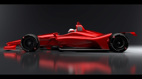2018 Indy Car Rendering