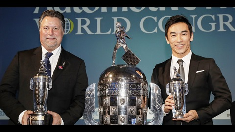 Baby Borg with Michael Andretti and Takuma Sato