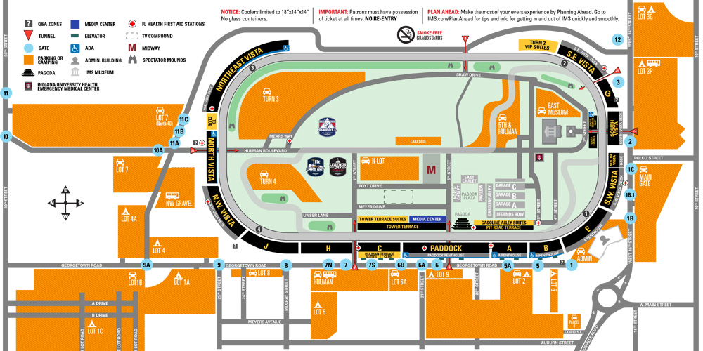 indianapolis 500 parking information