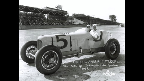 Billy Arnold in the #5 Hartz-Miller Special (Summers/Miller) at the Indianapolis Motor Speedway in 1932.