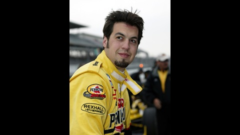 Sam Hornish Jr., driver of the # 4 Pennziol Panther Dallara Chevrolet at Indianapolis Motor Speedway Opening Day of the 87th Indianapolis 500-Mile Race