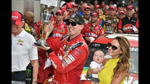 Kyle Busch became the sixth driver to have won the Brickyard 400, NASCAR Championship and ESPY for Best Driver.